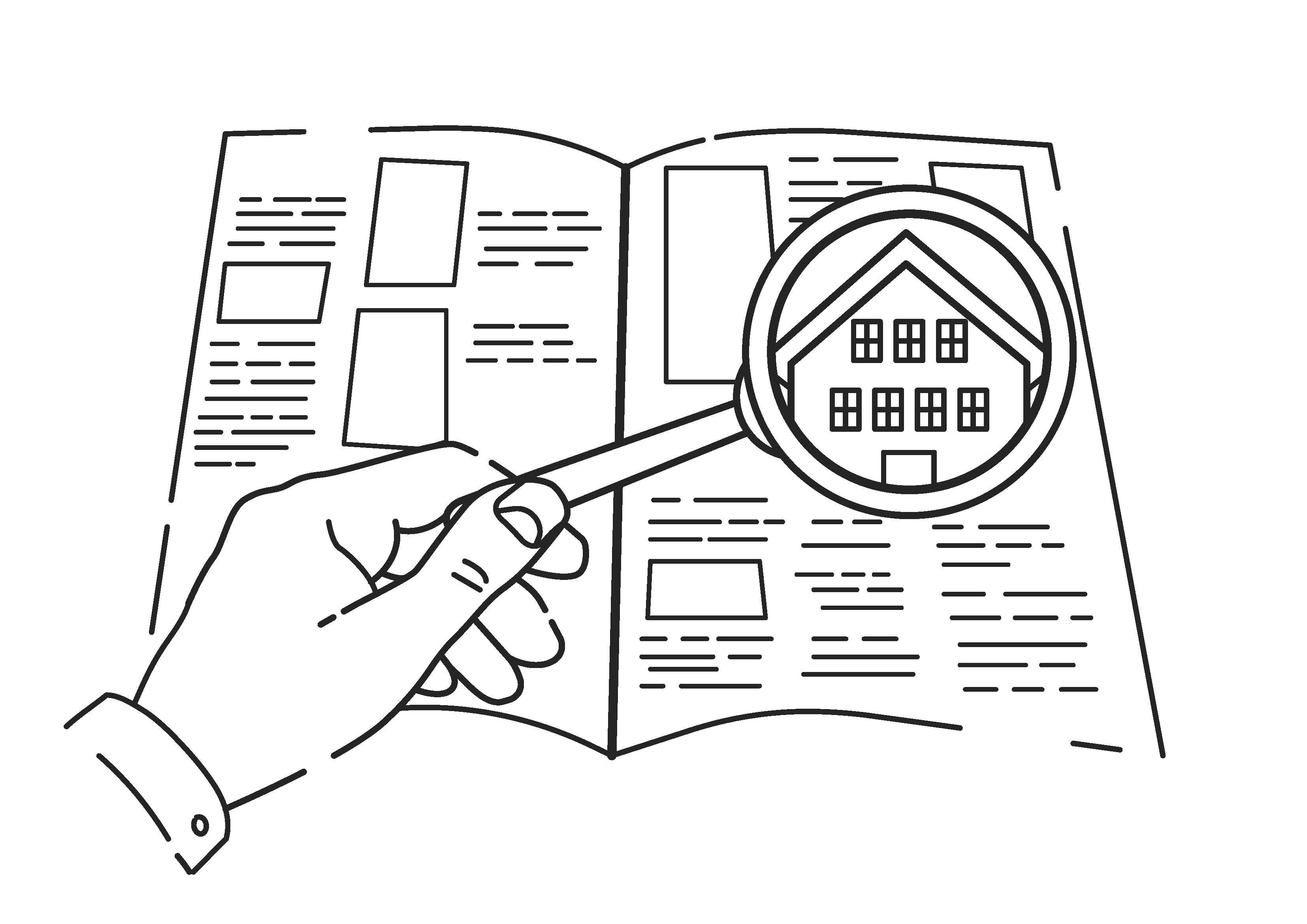 Haus ohne Makler verkaufen - Zeitungsanzeige